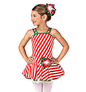Girls Candy Cane Tutu Dress