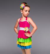 Gumdrops and Lollipops Girls 4-Tier Dress