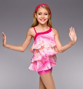 Shake it Out Girls Ruffle Shorty Unitard