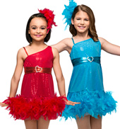Little Diva Girls Feather Dress