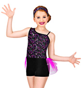Electricity Girls Unitard Costume