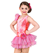 Bright Orange Sky Girls Tutu Dress