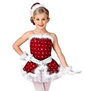 Girls Santas Helper Costume Set