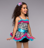 Zany Zebra Girls Costume Set