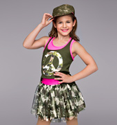 Glam-O Camo Girls Costume Set