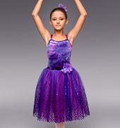 Purple Mist Girls Romantic Tutu Dress
