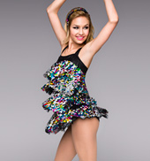 So Sassy Adult 4-Tier Sequin Dress