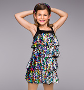 So Sassy Child 4 Tier Sequin Dress