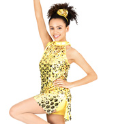 Heart of Gold Adult Sequin Overdress and Shorty Unitard