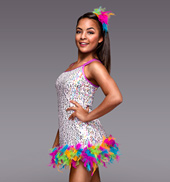 Hey Mambo Adult Sequin & Feather Dress