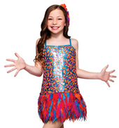 Copacabana Girls Sequin & Feather Dress