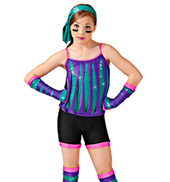 Derby Girl Girls Unitard Costume
