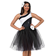 Contrast Adult Tutu Dress