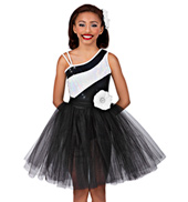 Contrast Girls Tutu Dress