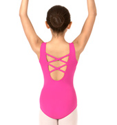 Girls Lattice Back Tank Leotard