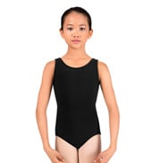 Child Scoop Neck Tank Cotton Leotard