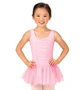 Girls Shirred Tank Dress
