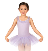 Girls Ruffle Neck Camisole Tutu Dress