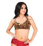 Adult Velvet Leopard Vintage Bra Top