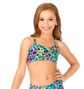 Child Multi Leopard Camisole Bra Top