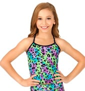 Child Multi Leopard Long Camisole Top