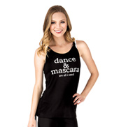 Adult Dance & Mascara Knot Back Camisole Top
