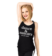 Girls Dance & Mascara Knot Back Camisole Top