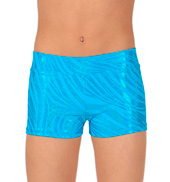 Child Zebra Foil Dance Shorts