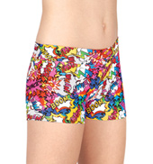 Girls Comic Strip Printed Dance Shorts