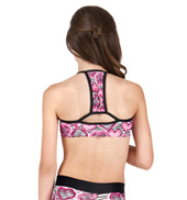Girls Zebra Hearts Camisole Bra Top