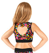 Girls Hearts & Flowers Tank Bra Top