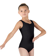 Girls Plage Pinch Front Tank Leotard