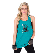 Adult and Child YOLO Lace Accent Rocker Tank Top
