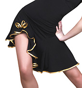 Women Asymmetric Ballroom Skirt