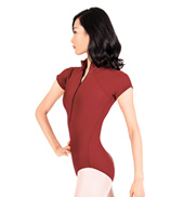 Dacha Adult Short Sleeve Zip Leotard