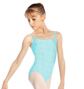 Girls Velvet Camisole Leotard