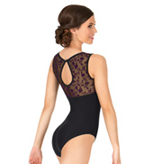 Adult Majeste Floral Lace Sweetheart Tank Leotard