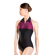 Adult Calas Swiss Dot High Neck Tank Leotard