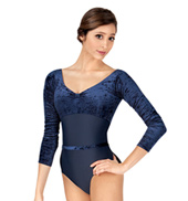 Adult Bianca Velvet Long Sleeve Leotard