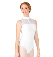 Adult Folie Wave Mesh Zip Front Tank Leotard