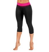 Adult Color Waistband Capri Leggings