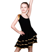 Child Asymmetric Ballroom Dress