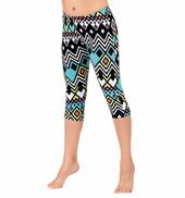 Girls Geometric Print Leggings