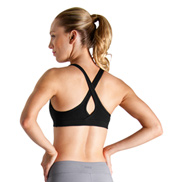 Studio Active Spandex Supplex Slim Line Keyhole Crop Top