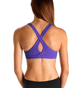 Bloch Studio Active Cotton Spandex Slim Line Keyhole Crop Top