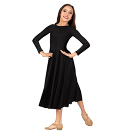 Girls Worship Long Sleeve Dance Dress - Style No 0512