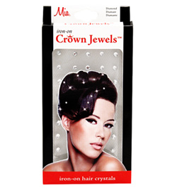Crown Jewels Iron on Hair Crystals - Style No 05550