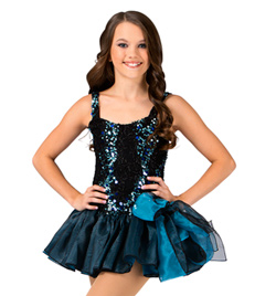 Child Tank Sequin Tutu Dress - Style No 117717C