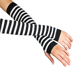 Striped Arm Warmers - Style No 2017x