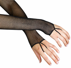 Colorful Fishnet Gloves - Style No 2019x